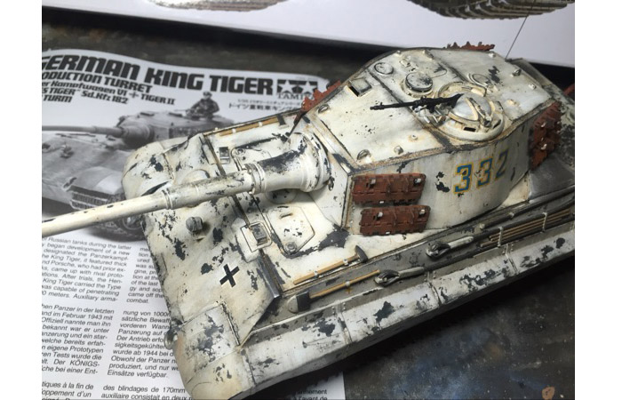 1/35 Scale Model Tank, Tamiya 35164 King Tiger Sd.Kfz. 182 Production Turret Plastic Scale Model Kit.