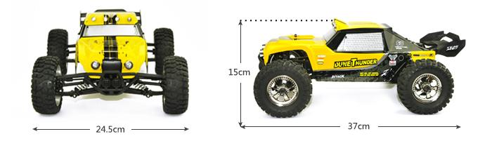 Waterproof Rc 4 Wheel Drive : Hbx dune thunder ghz radio remote control desert
