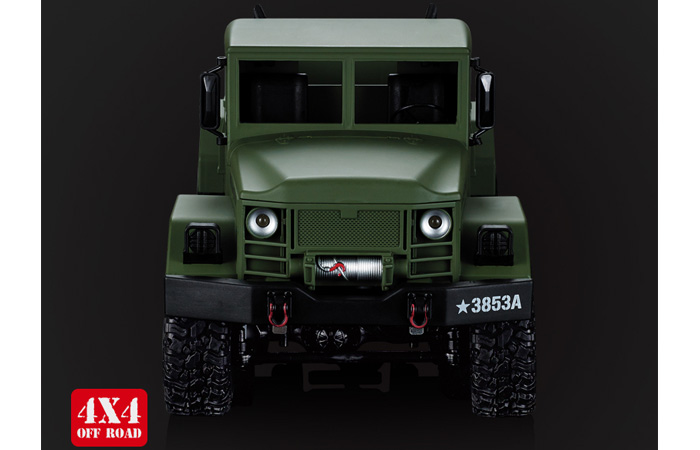 1/16 4X4 4WD RC High-Imitation US Military Truck (RC M35 Scale Model Rock Cralwer Car).