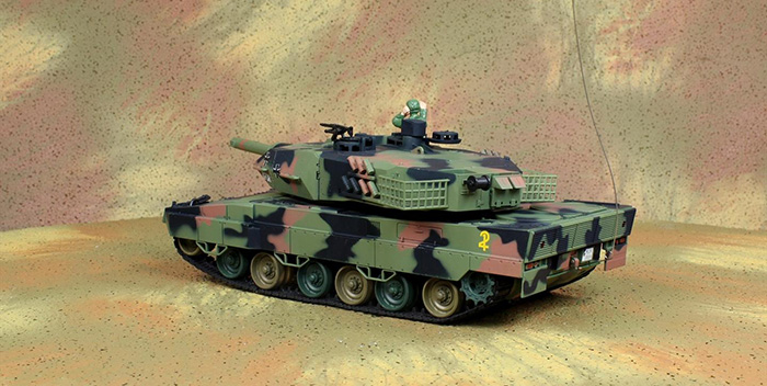 HENG-LONG Toys RC Tank 3809, GERMAN LEOPARD IIA5 Large 1/24 Scale Model Remote control Tank, Airsoft  tank, military vehicles, radio control battle tank.
