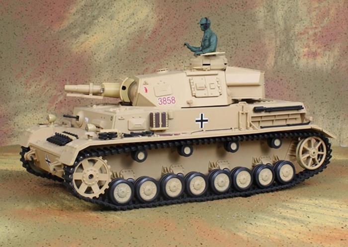 HENG-LONG Toys RC Tank 3858, World War II Germany DAK PZ.KPFW.4 AUSF.F-1 1/16 Scale Model Remote control Tank, Airsoft tank.