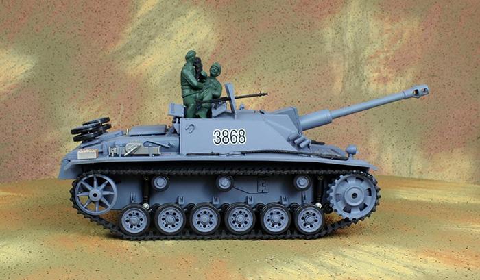 HENG-LONG Toys RC Tank 3868, World War II GERMAN STURMGESCHUTZ III AUSF.G.SD.KFZ.142/1 1/16 Scale Model Remote control Tank.