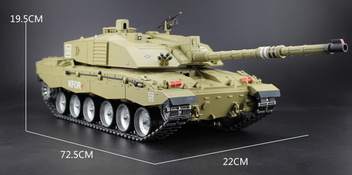 HENG-LONG Toys RC Tank 3908-1/3908, British Challenger 2 Main Battle Tank 1/16 Scale Model Tank, Airsoft tank, military vehicles, radio control battle tank.