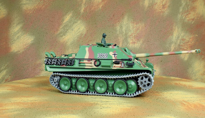 HENG-LONG Toys RC Tank 3869, World War II German Jagdpanther Tank Destroyer 1/16 Scale Model Remote control Tank, military vehicles.