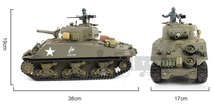 HENG-LONG Toys RC Tank 3898 WWII US Sherman M4A3 1/16 Scale model Tank, airsoft tank, military  vehicles, radio control battle tank..