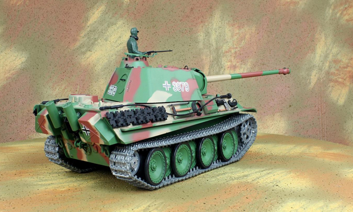 HENG-LONG Toys RC Tank 3879, World War II Germany  PANTHER TYPE G Tank 1/16 Scale Model Remote control Tank, Airsoft tank.