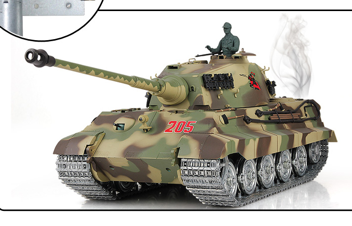 HENG-LONG Toys RC Tank 3888, World War II Germany KING TIGER Heavy Tank 1/16 Scale Model Remote control Tank, Airsoft tank.
