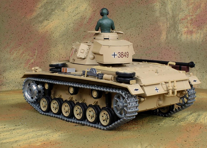 HENG-LONG Toys RC Tank 3849, World War II Germany TAUCH PANZER 3 AUSF.H 1/16 Scale Model Remote control Tank, Airsoft tank, military vehicles.