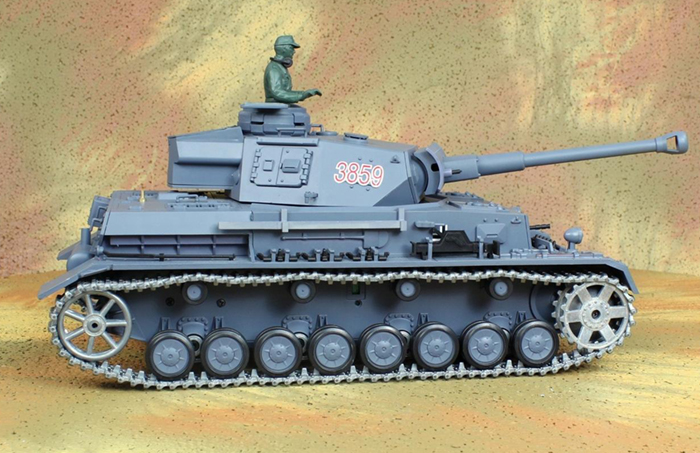 HENG-LONG Toys RC Tank 3859, World War II Germany PZKPFW.IV AUSF.F2.SD.KFZ.161-1 1/16 Scale Model  Remote control Tank, Airsoft tank.