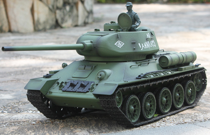 HENG-LONG Toys RC Tank 3909, World War II Soviet Union Russia T-34 Tank 1/16 Scale Model Tank, Airsoft tank, military vehicles, radio control battle tank.