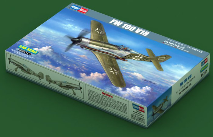 1/48 Scale Model Hobby Boss 81747 FW 190 V18 High-Altitude Fighter Plastic Model kits.