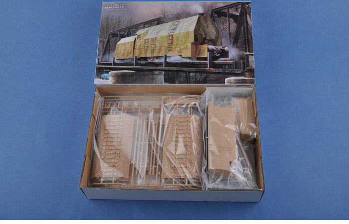 1/72 Scale Model Kit, German Panzerlok BR57 Armoured Locomotive, Hobby-Boss 82922 Plastic Model Kit.