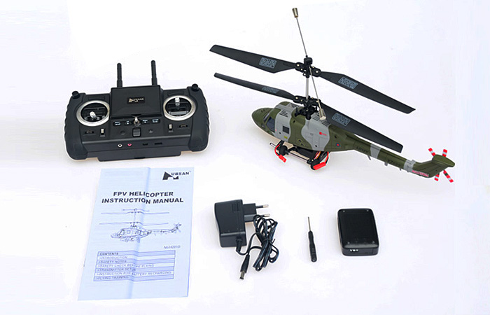 Hubsan H201D Lynx FPV RC Helicopter, Aerial photography Helicopter HD camera, 2.4G Radio remote control, 4CH RTF Military Toy