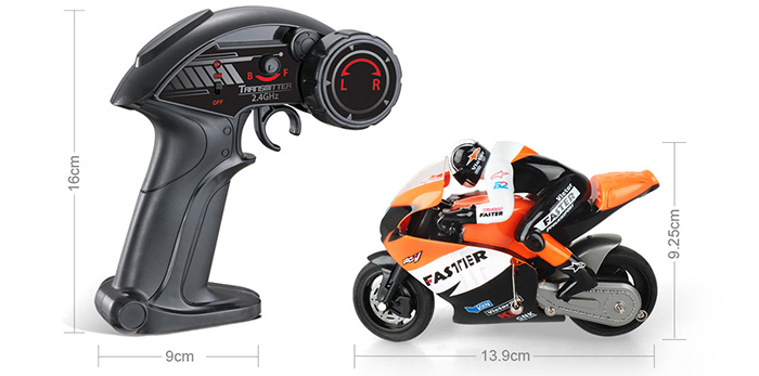 1/10 Scale models, RC high-speed motorcycle model Toy, kids toys,  RC racing, 2.4GHz Radio remote control motorcycle