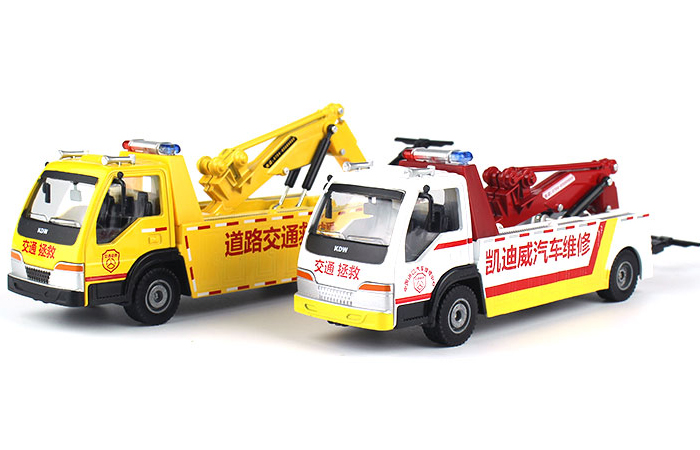1/50 Scale Wrecker Tow Truck With A Car Diecast Model, Toy Truck, Toy Car.