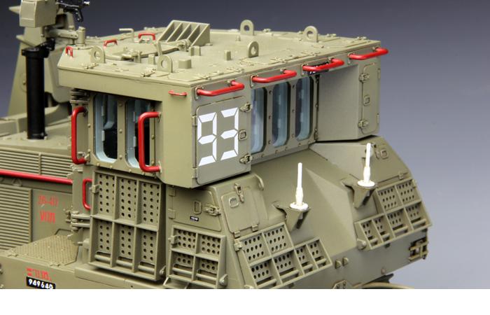 Meng-Model SS-002 1/35 Scale Plastic Model Kit Israel D9R Armored Bulldozer Scale Model, Static Armor Model.
