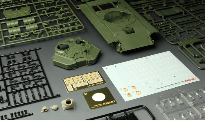 Meng-Model TS-006 1/35 Scale Plastic Model Kit Russian Main Battle Tank T-90A Scale Model, Static Tank Model.
