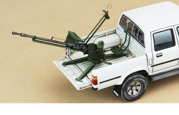 Meng-Model VS-001 1/35 Scale Plastic Model Kit Pickup Truck Fitted W/ZPU-1 Anti-Aircraft Gun Scale Model, Static Truck Model