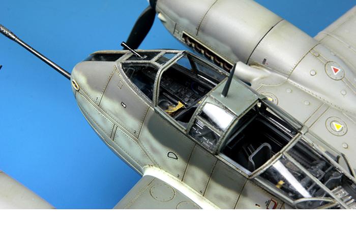 Meng-Model LS-001 1/48 Scale Plastic Model Kit Messerschmitt Me410B-2/U4 Heavy Fighter Scale Model, Static Aircraft Model.