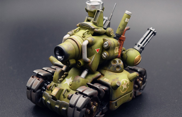 1/35 Scale Model Game Character, Metal Slug Tank Finished Plastic Scale Model Kit.