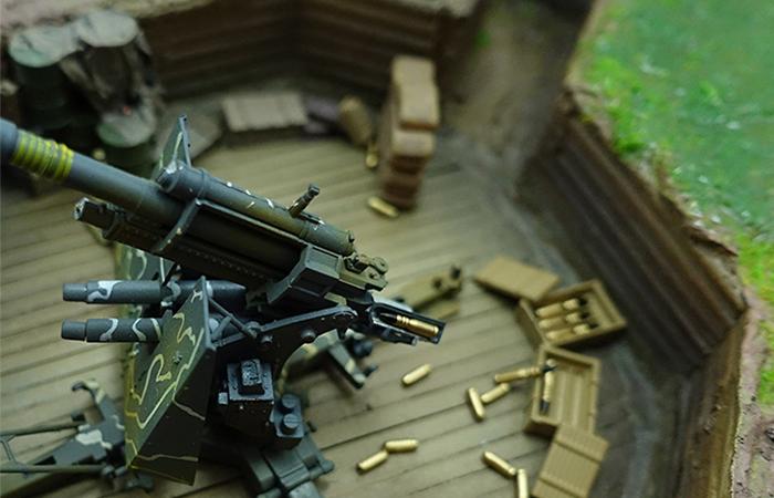 Precision Model Art PMA-P0215 Military Model WWII Cannon Position Scenes Model Show.