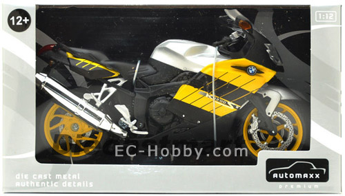 1 12 Bmw K1200s Motorcycle Diecast Model Yellow Ec