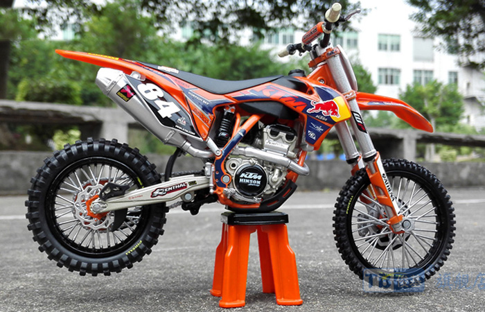 1/12 Scale Red Bull KTM 250SX-F Alloy plastic model, kids Motocross toys, GIFT, Alloy motorcycle BIKE MODEL.