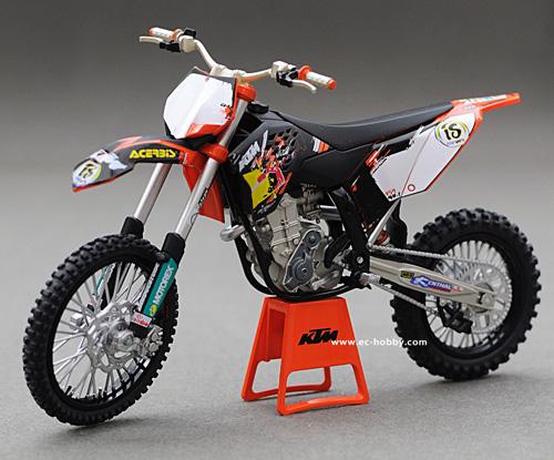 1 12 Ktm 450 Sxf 09 Motocross Diecast Motorcycle Bike Racing Model