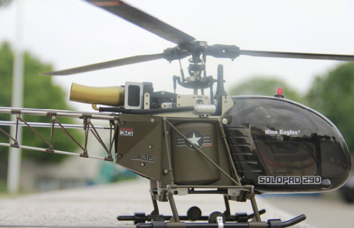 Nine-Eagles Solo Pro 290A SA-315A Lama 6CH 3D RC Model Helicopter.