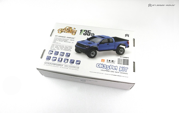 Orlandoo-Hunter, Small proportion RC car, Orlandoo 1/35 F150, OH35P01 KIT Assemble Climbing RC Car.