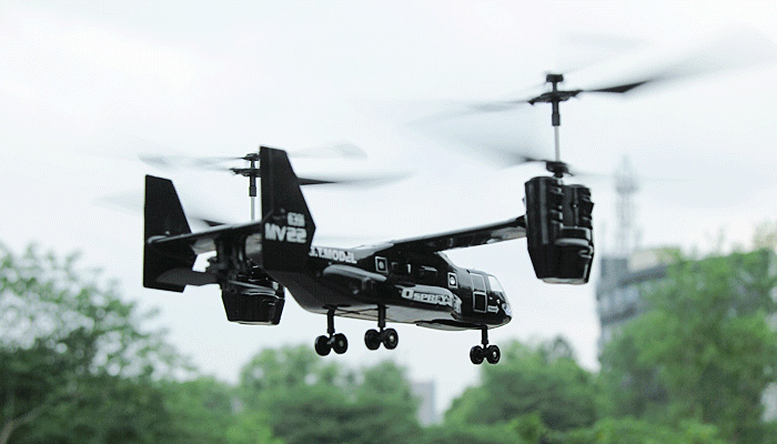 G.T.MODEL, Qingsong Toys, QS993, QS992, Osprey V-22 RC helicopter, V-22 tilt-rotor Osprey aircraft, remote controlled aircraft.