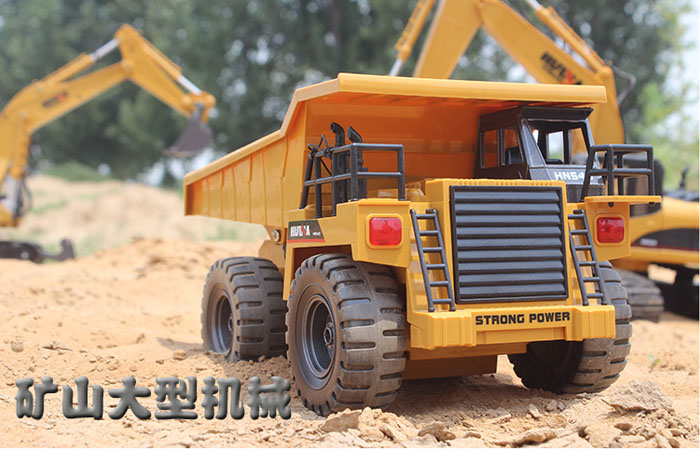 Outdoor Construction Toys : Rc dump truck toy model construction vehicles ghz