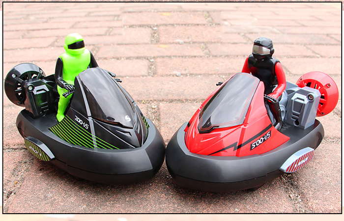 Two-Player Battle Game Remote Control Motorcycle / Bumper Car,  RTR RC Family Games Toy