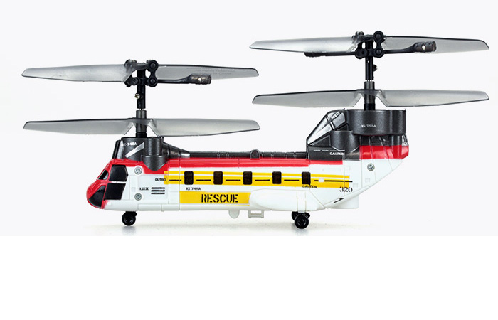 Silverlit Toys, NANO TANDEM Mini 3-Channel Infrared Control Chinook RC Helicopter.