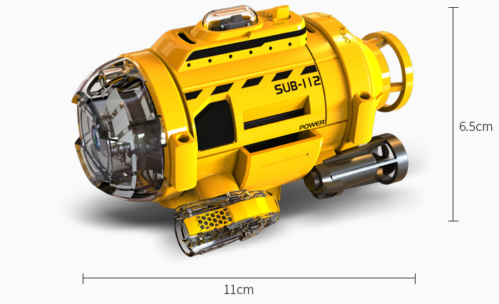 Silverlit Toys Power in speed, 82418 SUB-112 SpyCam Aqua Mini RC Submarine With Camera, Underwater photographing, Feeding fish, Aquarium Toys..