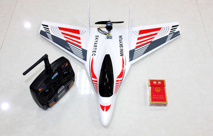 RTF Delta Wing Rear Propeller RC Aircraft, Three-axis gyroscope Brushless Motor 2.4GHz Radio remote control Plane, RC Glider.