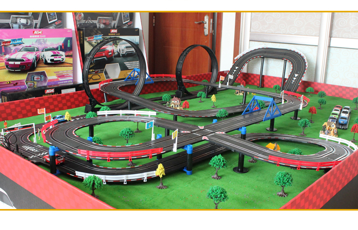 top racer agm tr06 slot car sets slot track racing game kids