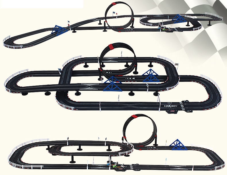 Top-Racer AGM TR08 Slot Car Sets , Slot Track, Remote Control Racing Car, Kids Toys .