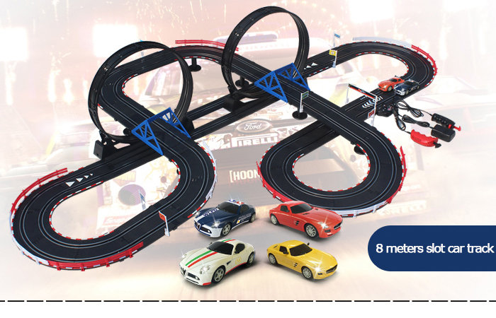 Top-Racer AGM TR12 Slot Car Sets , Mercedes-Benz SLS AMG, Alfa Romeo 8C Slot Car.