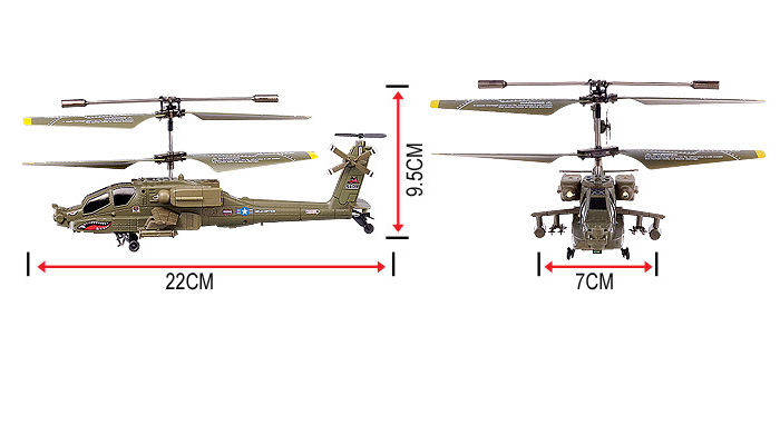 syma toy s109g apache ah 64 3.5 channels RC helicopter Infrared Remote Control with gyroscope, mini indoor electronic Military toys