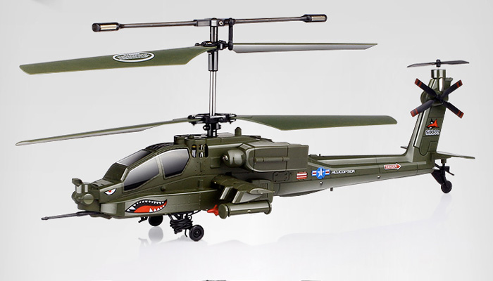 syma toy s113g apache ah 64 3.5 channels RC helicopter FM Remote Control with gyroscope,indoor/out  door electronic Military toys