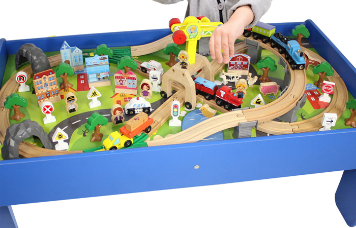 Thomas And Friends Wooden Toy Train Play-set, With Wooden Children's Game Table.
