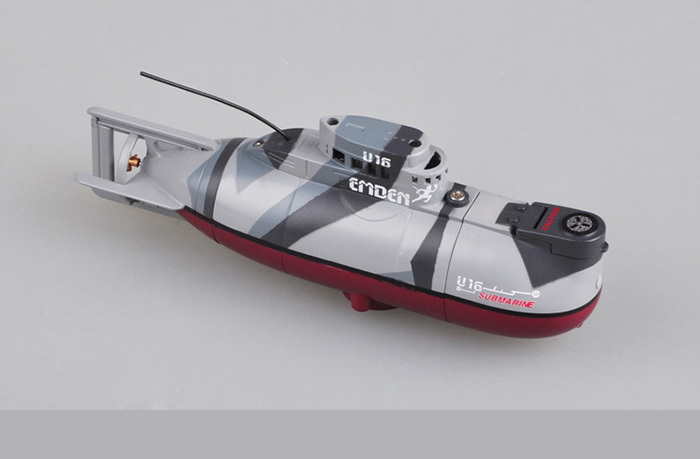 Trumpeter mode 07007, German Emden U16, Mini RC Submarine, Remote Control Ship, Radio Control Boat, RC electric subs.