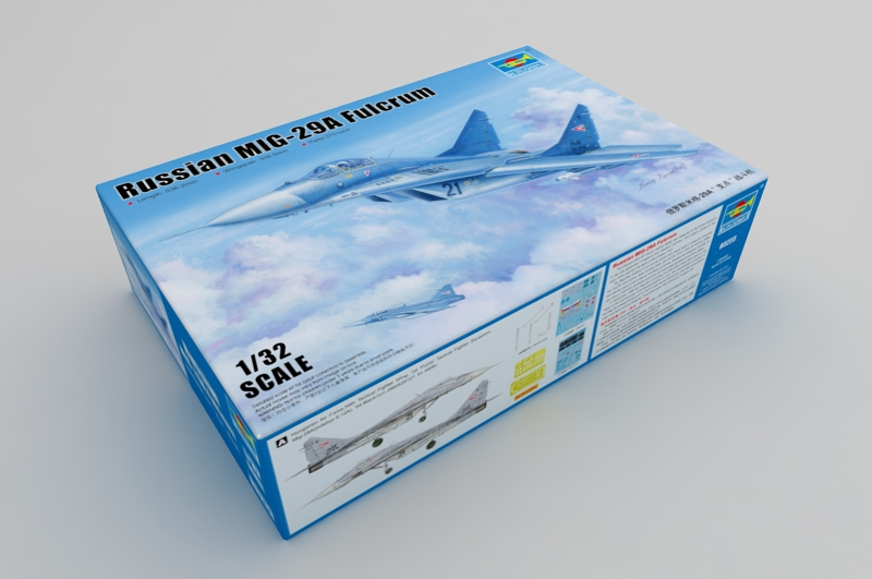 1/32 Scale Model Kit, Russian MIG-29A Fulcrum, Trumpeter 03223 Plastic Model Kit.