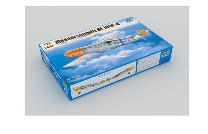 TRUMPETER Plastic Model Kit 02289, WWII German Messerschmitt Bf 109E-4 Plastic Model Kit Fighter Scale Model, Static Aircraft Model.