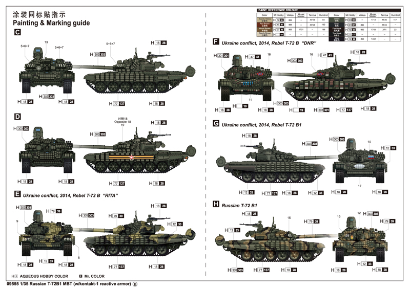 1 35 Scale Plastic Model Kit Trumpeter 09555 Russian T