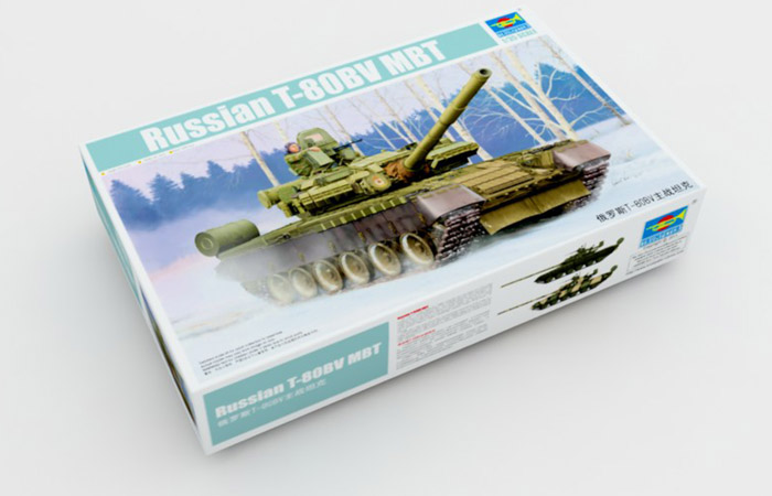 TRUMPETER Plastic Model kits 05566, 1/35 Scale Russian T-80BV MBT (Main Battle Tank) Model Kit Scale Model, Military Tank Model