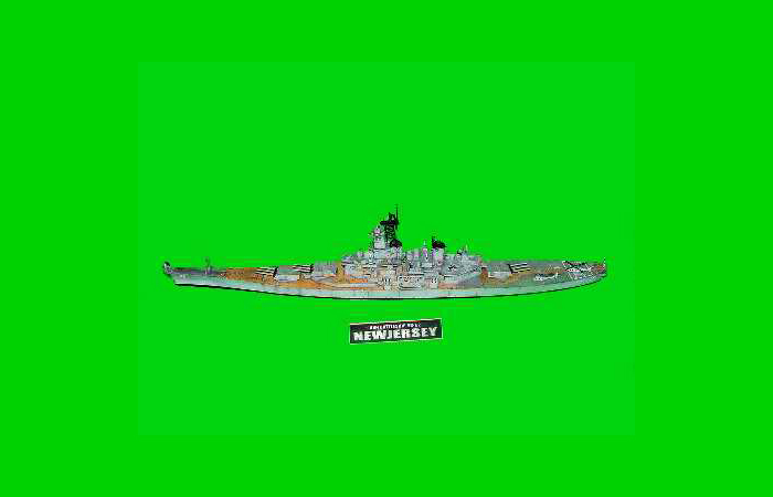 TRUMPETER Plastic Model kits 05702, 1/700 Scale US Battleship BB-62 New Jersey 1983 Bar Code Model Kit, Scale Model