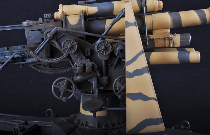 Merit Plastic Model kits JSI-60030, 1/18 Scale Finished WWII German Weapons Model Flak 36 88mm Anti-Aircraft Gun Static Model, World War II military model