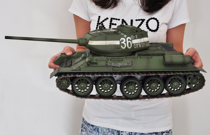 2.4Ghz Radio remote control 1/16 Scale Model RUSSIAN T-34/85 MBT, IR BATTLE Games, Trumpeter model 00807, RC Tank